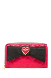 Betsey Johnson Large Bow Wallet Pink
