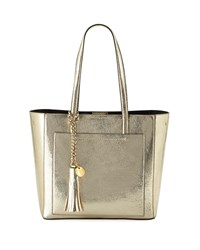 Cole Haan Natalie Small Metallic Tote Bag Gold
