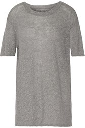 Rta Beatrice Stretch Knit Top Gray