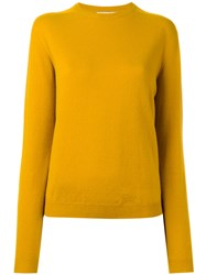 Jil Sander Crew Neck Jumper Yellow Orange
