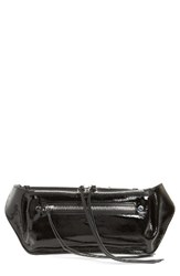 Rag And Bone Ellis Patent Leather Fanny Pack Grey Black Patent