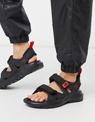 The North Face Hedgehog Sandals In Black