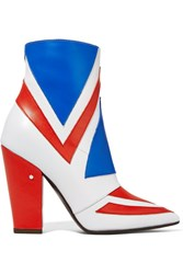 Laurence Dacade Bowie Paneled Leather Ankle Boots Red