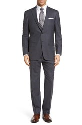 Hart Schaffner Marx Men's Big And Tall Classic Fit Plaid Wool Suit Medium Grey