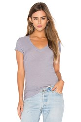 James Perse Casual V Neck Tee Lavender