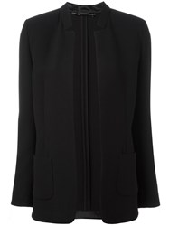 Les Copains Detailed Lapel Blazer Black