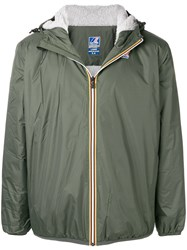 K Way Hooded Zipped Jacket Green