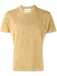 Our Legacy Towelling T Shirt Yellow And Orange
