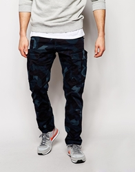 G Star G Star Cargo Trousers Rovic Slim Fit Camo Print Overdyed Indigo