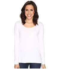 Alternative Apparel The Charmer Satin Jersey Top White Women's Long Sleeve Pullover