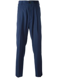 Vivienne Westwood Man Cropped Tapered Trousers Blue