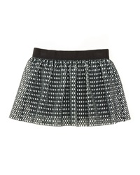 Milly Minis Couture Mesh Skirt Black White Size 4 7