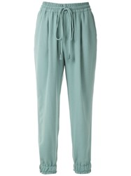 Martha Medeiros Crepe Tapered Trousers Green