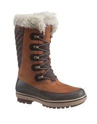 Helly Hansen Women's Garibaldi Faux Fur Lined Mid Calf Snow Boots Whiskey