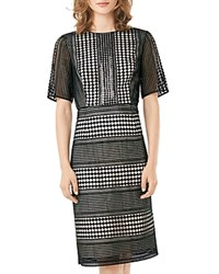 Phase Eight Alison Sequined Graphic Sheath Dress Black