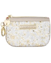 Betsey Johnson Sequin Zip Coin Purse Stone