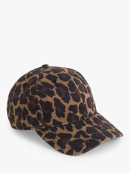 J.Crew Leopard Baseball Hat Brown Ivory