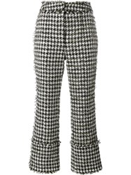 Erdem Houndstooth Boucle Trousers Black