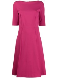 Les Copains Flared Midi Dress Pink