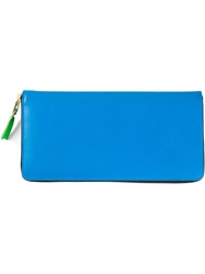 Comme Des Garcons Wallet Zip Around Wallet Blue