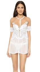For Love And Lemons Lucia Chiffon Robe White