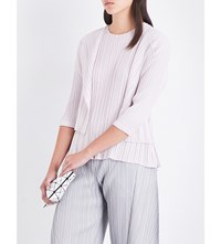 Issey Miyake Pleats Please Pastel Pleated Cardigan Pink