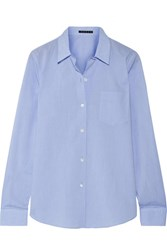 Theory Perfect Cotton Shirt Light Blue