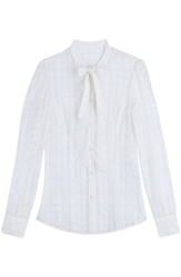 Red Valentino Sheer Shirt With Lace