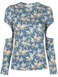 Delada Floral Print Cut Out Top 60