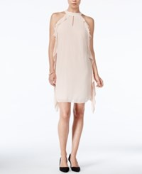 Bar Iii Flutter Detail Shift Dress Only At Macy's Ballet Pink