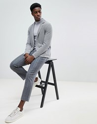 Selected Homme Jersey Blazer Grey