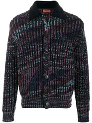 Missoni Long Sleeve Fitted Cardigan Blue