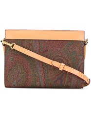 Etro Paisley Shoulder Bag Brown