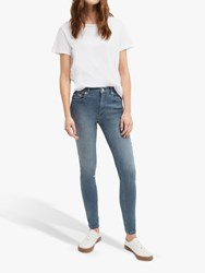 French Connection Mid Rise Skinny Rebound Jeans Blue Grey