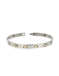 Zoppini Zo Chain Stainless Steel And 18K Gold Link Bracelet Silver