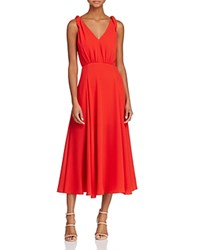 Betsey Johnson Pebble Georgette Crepe Dress Red