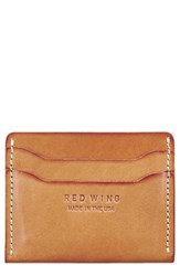 Red Wing Shoes Leather Card Case Beige Vegetable Tanned