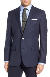 Men's Boss Trim Fit Herringbone Wool Sport Coat