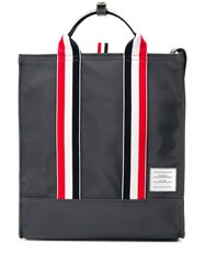 Thom Browne Nylon Zipped Tote Bag Grey
