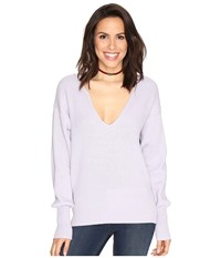 Free People Allure Pullover Lavender Women's Long Sleeve Pullover Purple