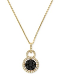 Effy Collection Caviar By Effy Black And White Diamond Pendant 3 8 Ct. T.W. In 14K Gold