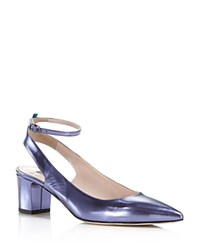 Sarah Jessica Parker Sjp By Maya Metallic Leather Ankle Strap Pumps 100 Exclusive Purple