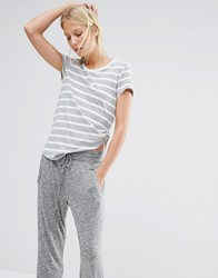 Nocozo Light Grey Breton Stripe Tee Light Grey