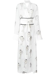 Yes Master Pin Up Print Gown White