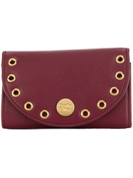 See By Chloe Pebbled Kriss Wallet Red