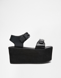 Yru Orion Flatform Strap Sandals Black