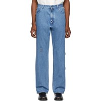 Raf Simons Blue Relaxed Fit Jeans
