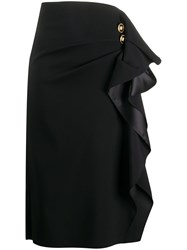 Versace Ruffled Detail Midi Skirt 60