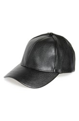 David And Young Women's Faux Leather Ball Cap