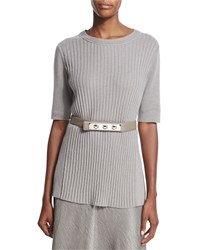 Lafayette 148 New York Skinny Triple Toggle Belt Brandy